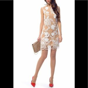 Iren Klairie Scallop Embroidered Overlay Dress